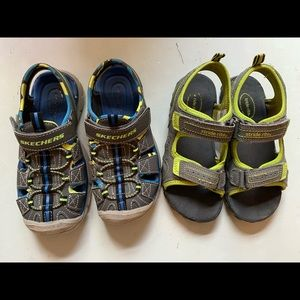 Sketchers and Stride Rite Toddler Boys Sandals
